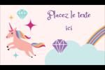 Licorne en fête Carte d'affaire - gabarit prédéfini. <br/>Utilisez notre logiciel Avery Design & Print Online pour personnaliser facilement la conception.