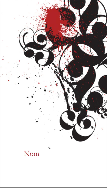 "5½"" x 4-1/4"" Carte de voeux - Fioritures dramatiques"