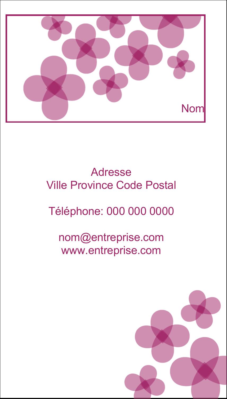 """5½"""" x 4-1/4"""" Carte de voeux - Fleurs violettes"""
