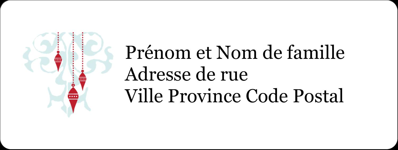 """1½"""" x 4"""" Étiquettes D'Adresse - Noël élégant"""
