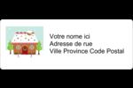 Maison en pain d'épices Étiquettes D'Adresse - gabarit prédéfini. <br/>Utilisez notre logiciel Avery Design & Print Online pour personnaliser facilement la conception.