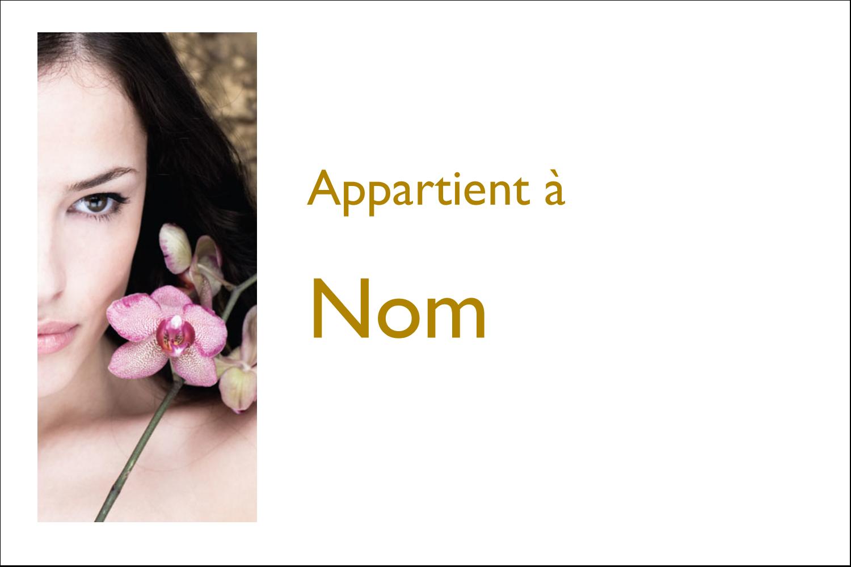 """3"""" x 2"""" Étiquettes Polyvalentes - Femme aux orchidées"""