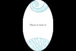 Bleu plage Étiquettes ovales - gabarit prédéfini. <br/>Utilisez notre logiciel Avery Design & Print Online pour personnaliser facilement la conception.