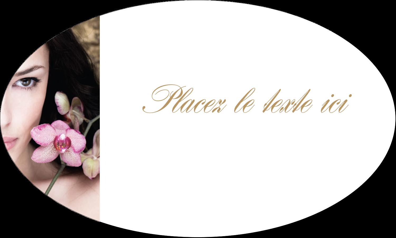 """1½"""" x 2½"""" Étiquettes ovales - Femme aux orchidées"""