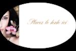 Femme aux orchidées Étiquettes ovales - gabarit prédéfini. <br/>Utilisez notre logiciel Avery Design & Print Online pour personnaliser facilement la conception.