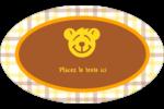 Ours jaune Étiquettes ovales - gabarit prédéfini. <br/>Utilisez notre logiciel Avery Design & Print Online pour personnaliser facilement la conception.
