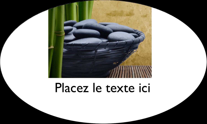 """1½"""" x 2½"""" Étiquettes ovales - Bien-être"""
