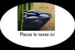 Bien-être Étiquettes ovales - gabarit prédéfini. <br/>Utilisez notre logiciel Avery Design & Print Online pour personnaliser facilement la conception.