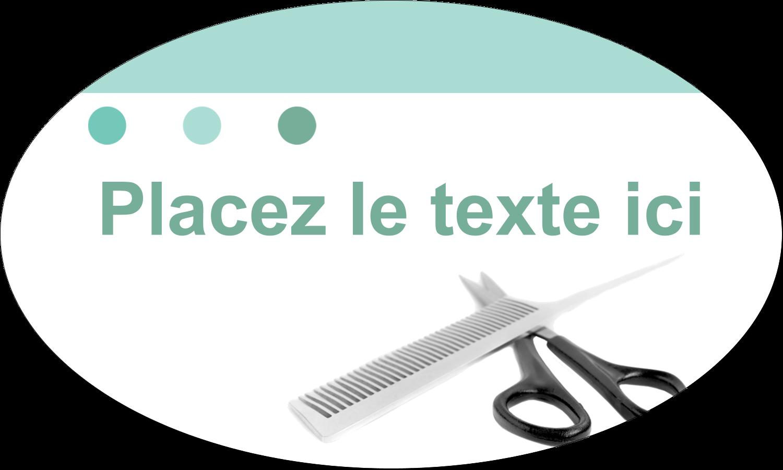 """1½"""" x 2½"""" Étiquettes ovales - Soins des cheveux"""