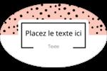 Jolis pois Étiquettes carrées - gabarit prédéfini. <br/>Utilisez notre logiciel Avery Design & Print Online pour personnaliser facilement la conception.