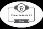 Logo simple Étiquettes carrées - gabarit prédéfini. <br/>Utilisez notre logiciel Avery Design & Print Online pour personnaliser facilement la conception.