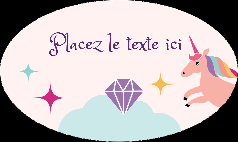 """1½"""" x 1½"""" Étiquettes carrées - Licorne en fête"""