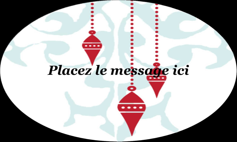 """1½"""" x 1½"""" Étiquettes carrées - Noël élégant"""