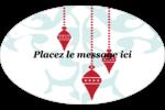 Noël élégant Étiquettes carrées - gabarit prédéfini. <br/>Utilisez notre logiciel Avery Design & Print Online pour personnaliser facilement la conception.