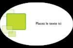 Carrés verts arrondis Étiquettes carrées - gabarit prédéfini. <br/>Utilisez notre logiciel Avery Design & Print Online pour personnaliser facilement la conception.