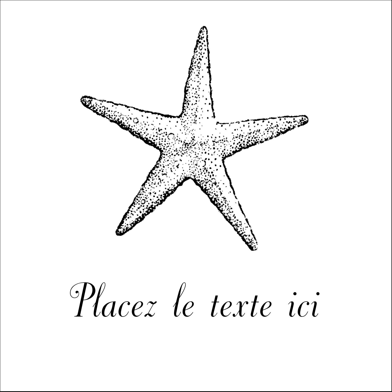 """1½"""" x 1½"""" Étiquettes carrées - Plage"""