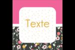 Fleurs modernes Étiquettes carrées - gabarit prédéfini. <br/>Utilisez notre logiciel Avery Design & Print Online pour personnaliser facilement la conception.
