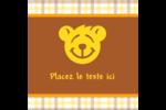 Ours jaune Étiquettes carrées - gabarit prédéfini. <br/>Utilisez notre logiciel Avery Design & Print Online pour personnaliser facilement la conception.