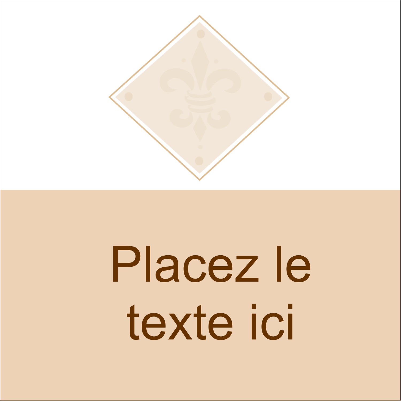 """2"""" x 2"""" Étiquettes carrées - Diamant beige"""