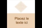 Diamant beige Étiquettes carrées - gabarit prédéfini. <br/>Utilisez notre logiciel Avery Design & Print Online pour personnaliser facilement la conception.