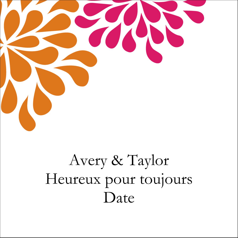 """2"""" Diameter Étiquettes rondes - Fête prénuptiale en rose et orange"""