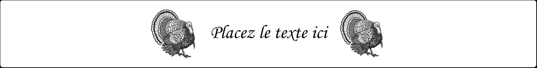 """1½"""" x 2½"""" Étiquettes ovales - Dinde traditionnelle de l'Action de grâces"""