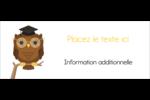 Hibou et diplôme Affichette - gabarit prédéfini. <br/>Utilisez notre logiciel Avery Design & Print Online pour personnaliser facilement la conception.