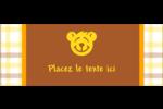 Ours jaune Étiquettes D'Adresse - gabarit prédéfini. <br/>Utilisez notre logiciel Avery Design & Print Online pour personnaliser facilement la conception.