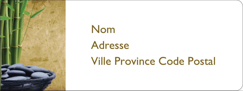 """⅔"""" x 1¾"""" Étiquettes D'Adresse - Bien-être"""