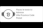 Logo simple Étiquettes D'Adresse - gabarit prédéfini. <br/>Utilisez notre logiciel Avery Design & Print Online pour personnaliser facilement la conception.