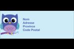 Chouette bleue Étiquettes D'Adresse - gabarit prédéfini. <br/>Utilisez notre logiciel Avery Design & Print Online pour personnaliser facilement la conception.