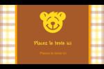 Ours jaune Carte d'affaire - gabarit prédéfini. <br/>Utilisez notre logiciel Avery Design & Print Online pour personnaliser facilement la conception.