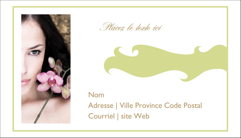 """2"""" x 3½"""" Carte d'affaire - Femme aux orchidées"""