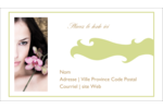 Femme aux orchidées Carte d'affaire - gabarit prédéfini. <br/>Utilisez notre logiciel Avery Design & Print Online pour personnaliser facilement la conception.