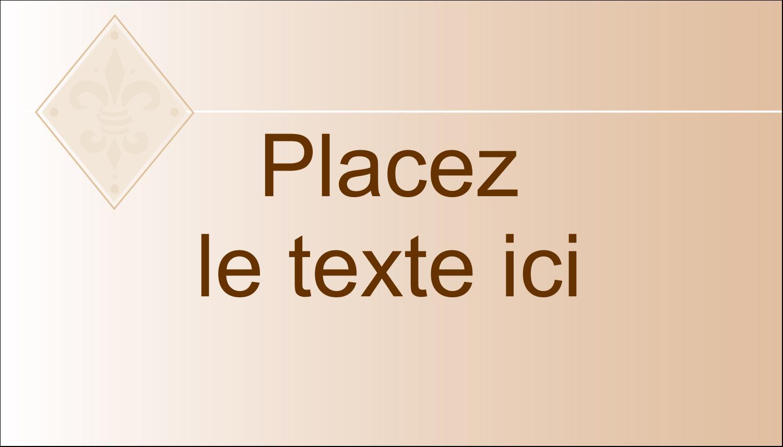 """2"""" x 3½"""" Carte d'affaire - Diamant beige"""