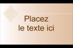 Diamant beige Carte d'affaire - gabarit prédéfini. <br/>Utilisez notre logiciel Avery Design & Print Online pour personnaliser facilement la conception.