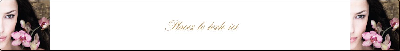 """9¾"""" x 1¼"""" Étiquettes enveloppantes - Femme aux orchidées"""