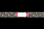 Fleurs modernes Étiquettes ovales - gabarit prédéfini. <br/>Utilisez notre logiciel Avery Design & Print Online pour personnaliser facilement la conception.