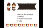 Pèlerins de l'Action de grâce Étiquettes d'expédition - gabarit prédéfini. <br/>Utilisez notre logiciel Avery Design & Print Online pour personnaliser facilement la conception.