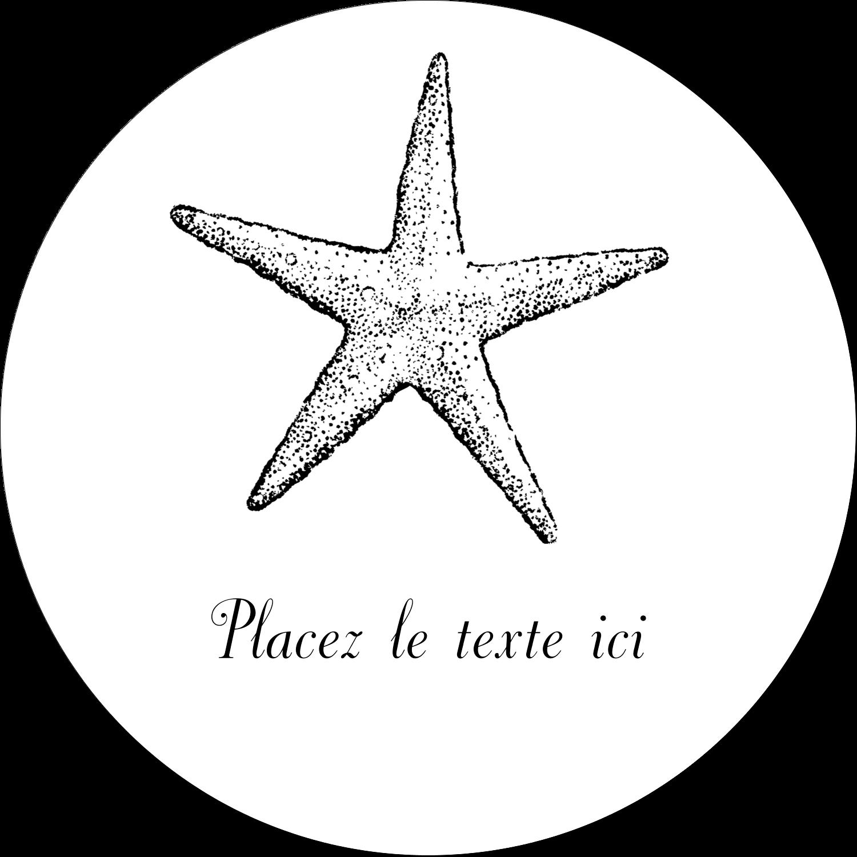 """2½"""" Diameter Étiquettes rondes - Plage"""