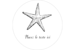 Plage Étiquettes rondes - gabarit prédéfini. <br/>Utilisez notre logiciel Avery Design & Print Online pour personnaliser facilement la conception.