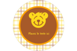 Ours jaune Étiquettes rondes - gabarit prédéfini. <br/>Utilisez notre logiciel Avery Design & Print Online pour personnaliser facilement la conception.