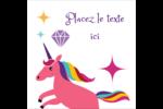 Licorne en fête Étiquettes carrées - gabarit prédéfini. <br/>Utilisez notre logiciel Avery Design & Print Online pour personnaliser facilement la conception.