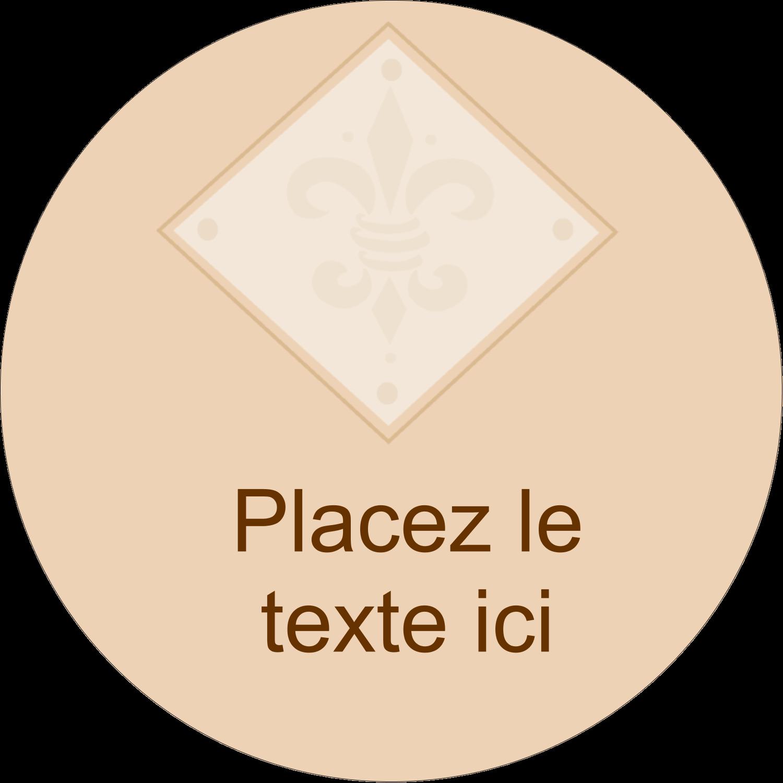 """2½"""" Diameter Étiquettes rondes - Diamant beige"""
