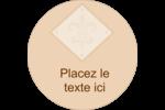 Diamant beige Étiquettes rondes - gabarit prédéfini. <br/>Utilisez notre logiciel Avery Design & Print Online pour personnaliser facilement la conception.