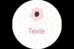 Fleurs modernes Étiquettes arrondies - gabarit prédéfini. <br/>Utilisez notre logiciel Avery Design & Print Online pour personnaliser facilement la conception.