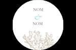 Bleu plage Étiquettes rondes - gabarit prédéfini. <br/>Utilisez notre logiciel Avery Design & Print Online pour personnaliser facilement la conception.
