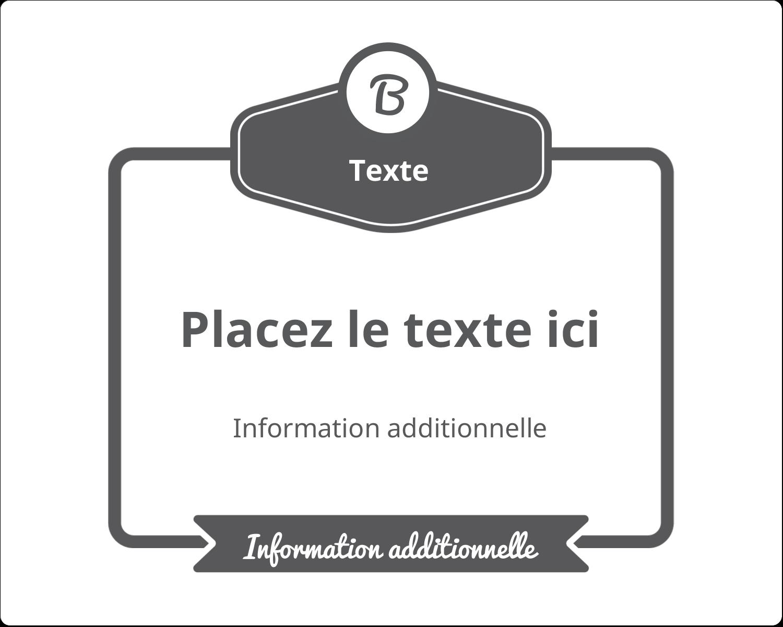 """2"""" Diameter Étiquettes rondes gaufrées - Logo simple"""