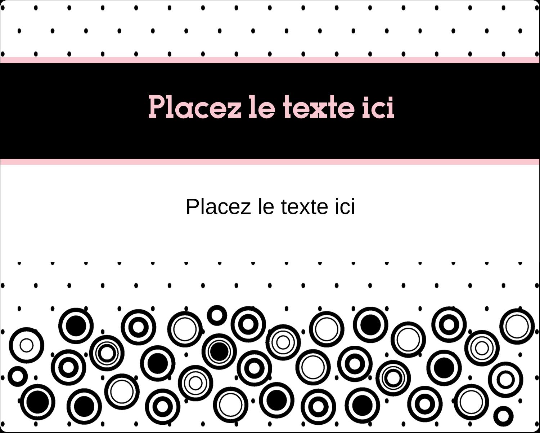 """2"""" Diameter Étiquettes rondes gaufrées - Beauté à l'état pur"""