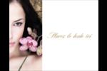 Femme aux orchidées Étiquettes rectangulaires - gabarit prédéfini. <br/>Utilisez notre logiciel Avery Design & Print Online pour personnaliser facilement la conception.
